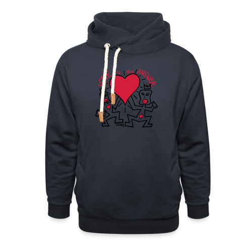 Love is the Answer by Oliver Schibli - Shawl Collar Hoodie
