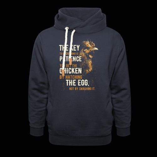 Das Huhn Shirt - Schalkragen Hoodie