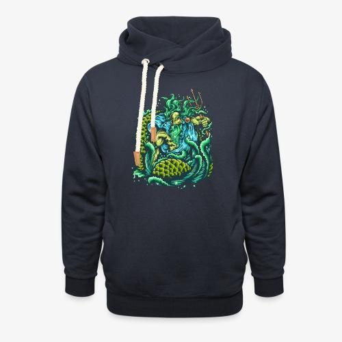 Gott des Meeres - Schalkragen Hoodie