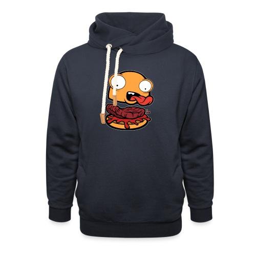Crazy Burger - Sudadera con capucha y cuello alto