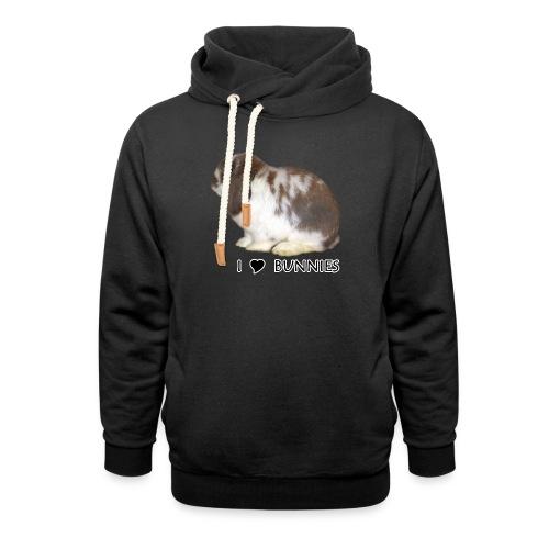 I Love Bunnies Luppis - Unisex huivikaulus huppari