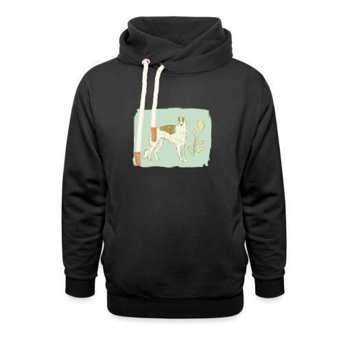Barsoi in Pastelltönen - Schalkragen Hoodie