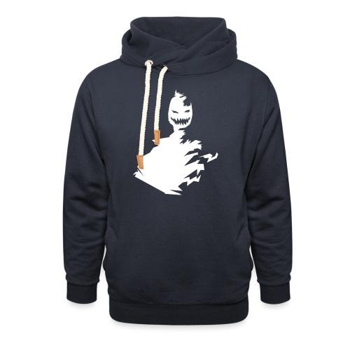 t-shirt monster (white/weiß) - Schalkragen Hoodie