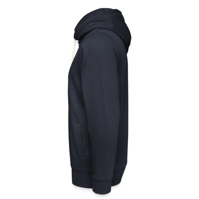 Vorschau: Samma si ehrlich mit am Spritza is Lebm herrlich - Unisex Schalkragen Hoodie