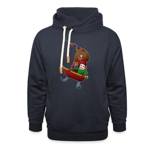 Davincstyle slee achtbaan - Unisex sjaalkraag hoodie