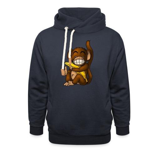 Super Fröhlicher Affe - Schalkragen Hoodie
