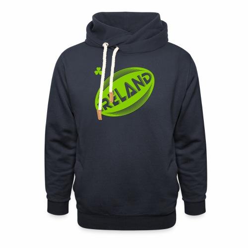 Ireland Rugby Ball - Shawl Collar Hoodie