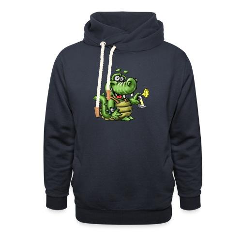 Crocodile Graffeur - Sweat à capuche cache-cou