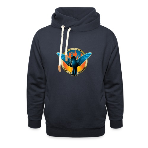 Choose Courage - Fireblue Rebels - Unisex Shawl Collar Hoodie