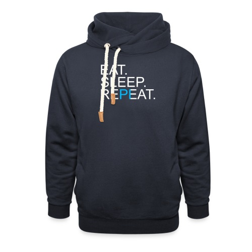 Eat Sleep Repeat PI Mathe Dunkel - Unisex Schalkragen Hoodie