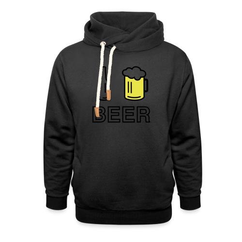 I Love Beer (2-farbig) - Unisex Schalkragen Hoodie
