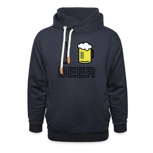 I Love Beer (3-farbig) - Schalkragen Hoodie