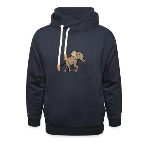 Afrikansk elefant - Unisex hettegenser med sjalkrage