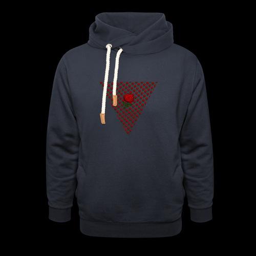 Dreieck Rose - Schalkragen Hoodie