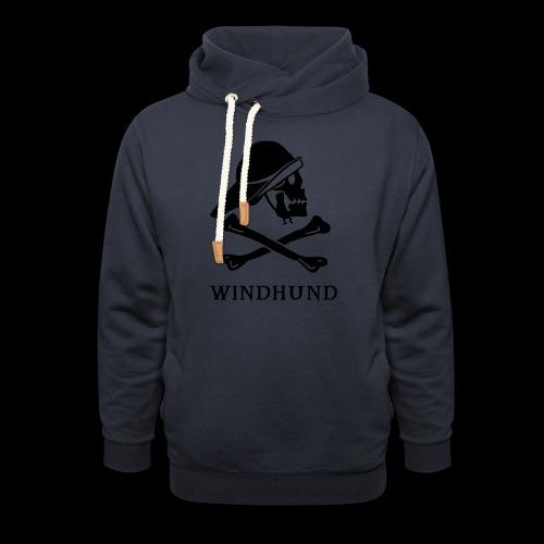 ~ Windhund ~ - Unisex Schalkragen Hoodie