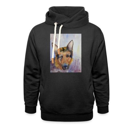german shepherd wc - Unisex hoodie med sjalskrave