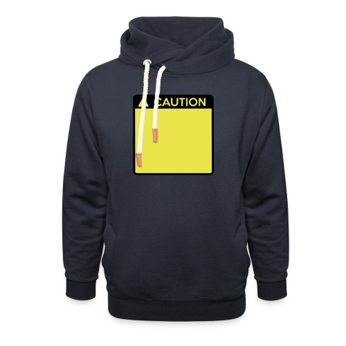 Caution Sign (2 colour) - Unisex Shawl Collar Hoodie