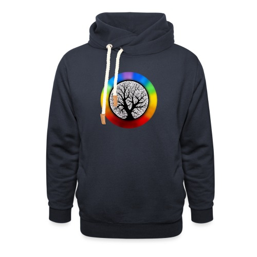 tree of life png - Sjaalkraag hoodie