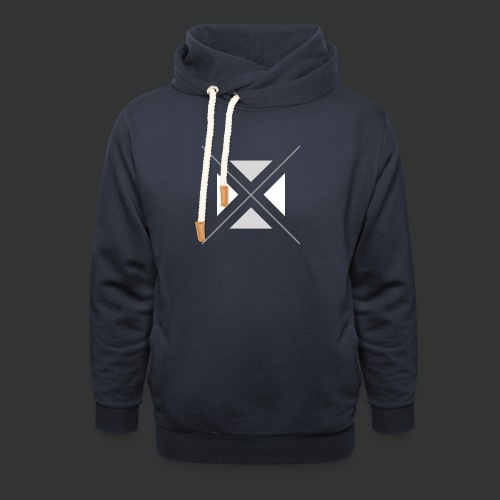 hipster triangles - Shawl Collar Hoodie
