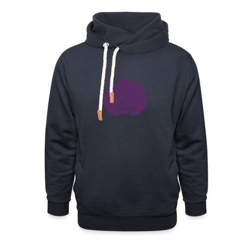 Usagi kamon japanese rabbit purple - Unisex Shawl Collar Hoodie