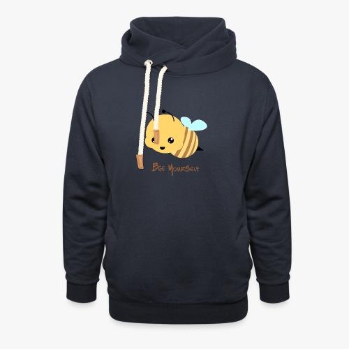 Bee Yourself - Unisex hoodie med sjalskrave