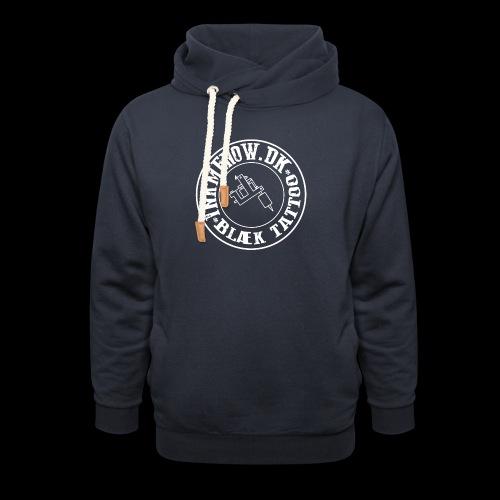 logo hvid png - Unisex hoodie med sjalskrave