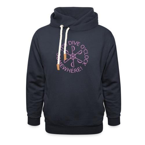 Dive o clock Pink - Shawl Collar Hoodie