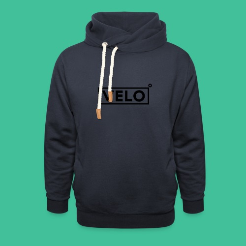 Velo Icon Blk - Long Sleeve Baseball Shirt W/N Clr - Shawl Collar Hoodie