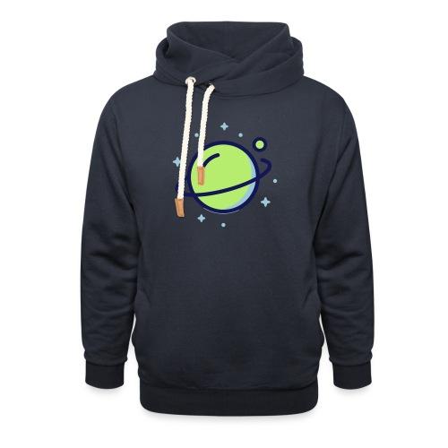 Space Earth - Sjaalkraag hoodie