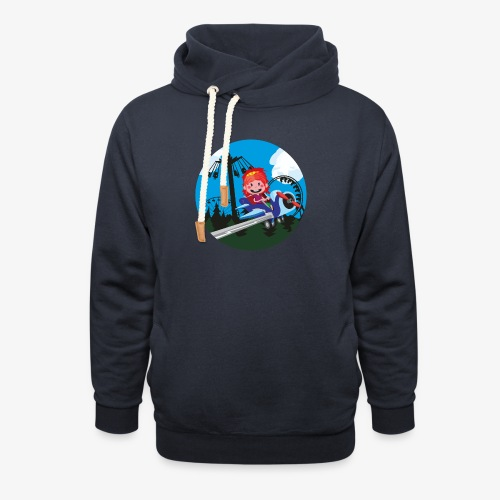 Themeparkrides - Airplanes - Unisex sjaalkraag hoodie