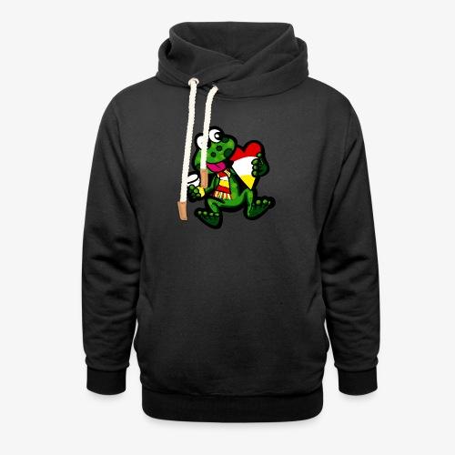 Oeteldonk Kikker - Unisex sjaalkraag hoodie