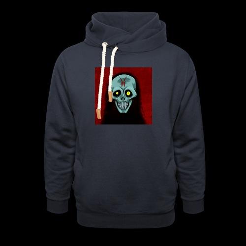 Ghost skull - Unisex Shawl Collar Hoodie