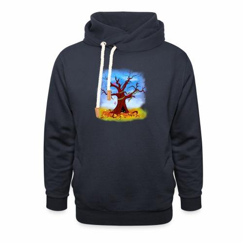Tree spirits - Bluza z szalowym kołnierzem
