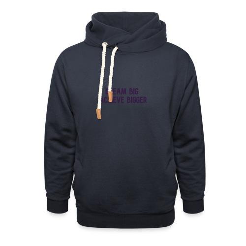 dream big achieve bigger paars - Unisex sjaalkraag hoodie