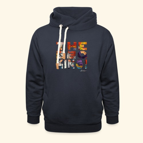 THE BBQ KING T SHIRTS TEKST - Unisex sjaalkraag hoodie