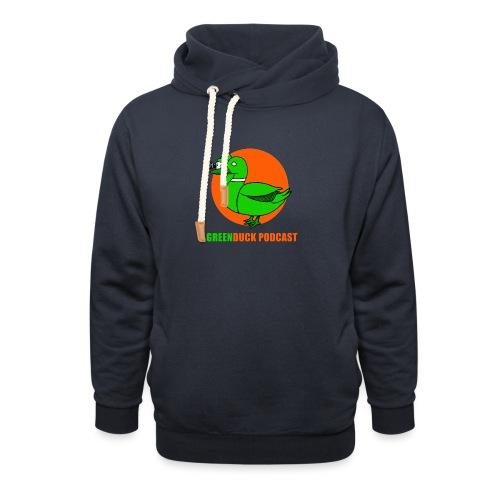 Greenduck Podcast Logo - Unisex hoodie med sjalskrave