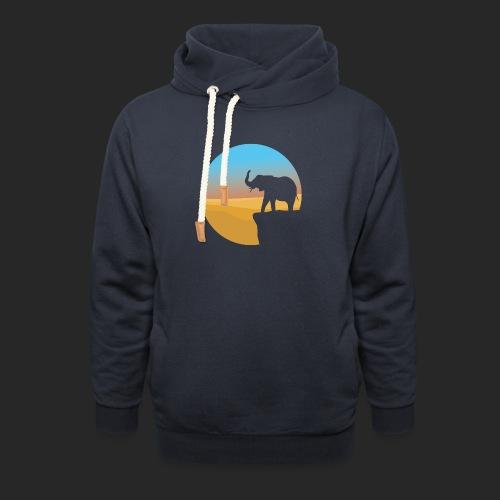 Sunset Elephant - Unisex Shawl Collar Hoodie