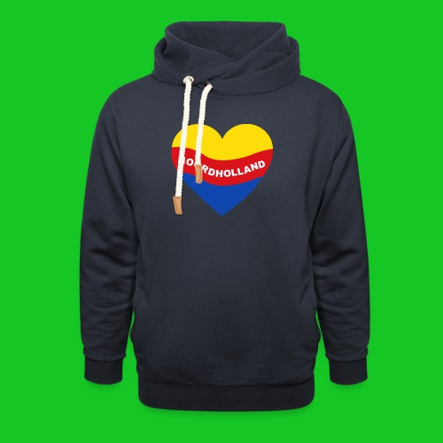 Love Noord Holland Hart.png - Sjaalkraag hoodie