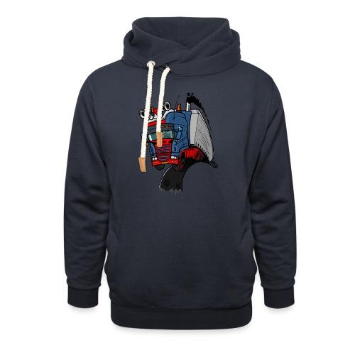 The flying skane man notext - Sjaalkraag hoodie