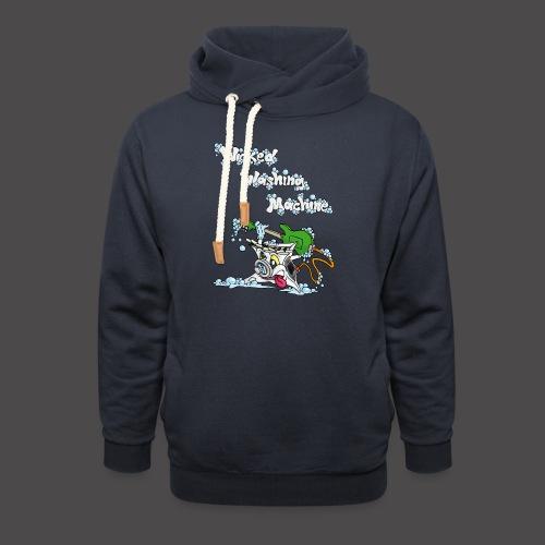 Wicked Washing Machine Cartoon and Logo - Sjaalkraag hoodie