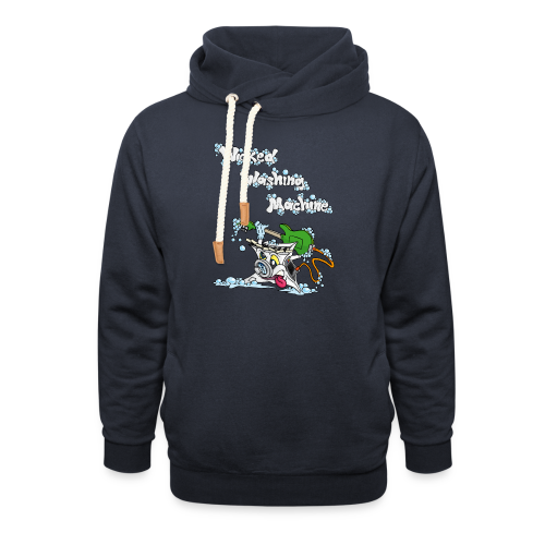 Wicked Washing Machine Cartoon and Logo - Sjaalkraag hoodie