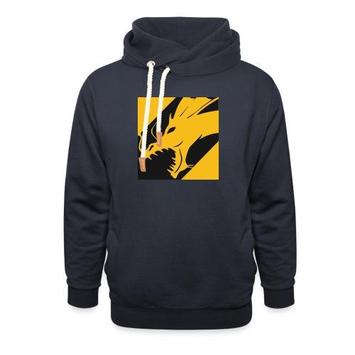 Dragon Yellow - Sjaalkraag hoodie