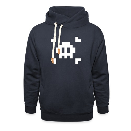 Pixel Skull - Sweat à capuche cache-cou