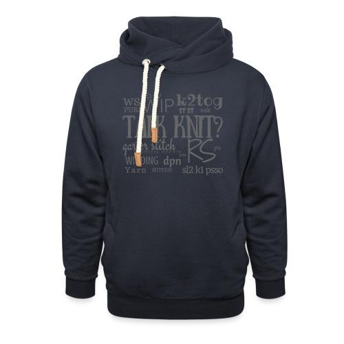 Talk Knit ?, gray - Shawl Collar Hoodie