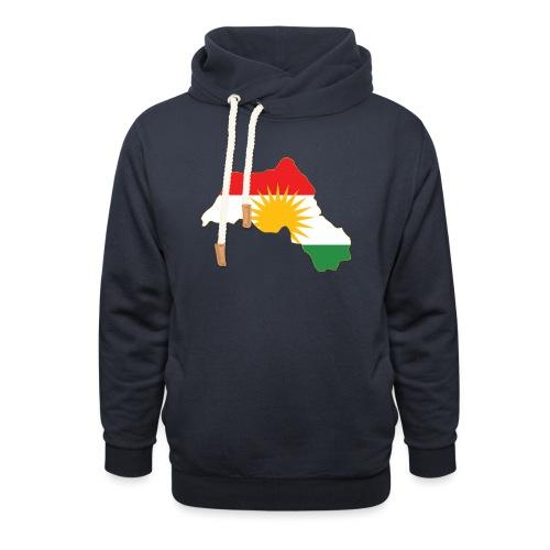 Kurdistan Flag Map - Schalkragen Hoodie
