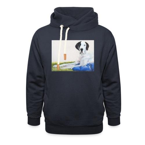 Grand danios harlequin - Unisex hoodie med sjalskrave