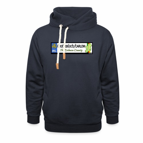 CARLOW, IRELAND: licence plate tag style decal - Shawl Collar Hoodie