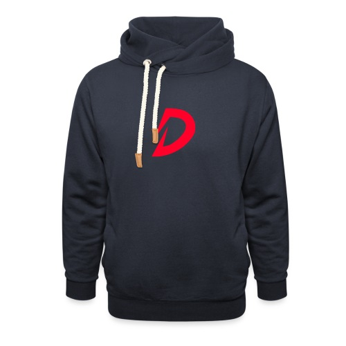 Destra Logo by Atelier render red - Sjaalkraag hoodie