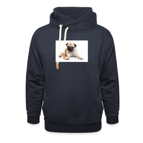 mopshond afdruk/print - Unisex sjaalkraag hoodie