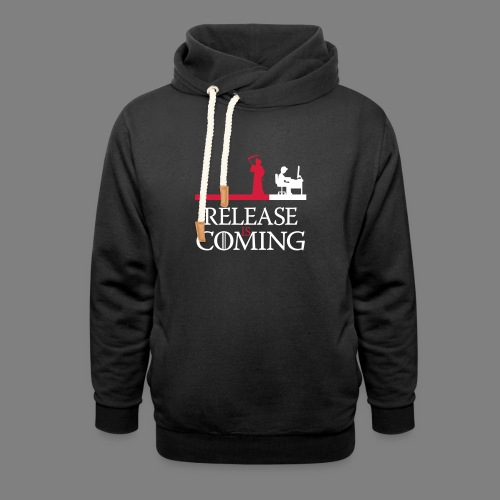 release is coming - Unisex Schalkragen Hoodie